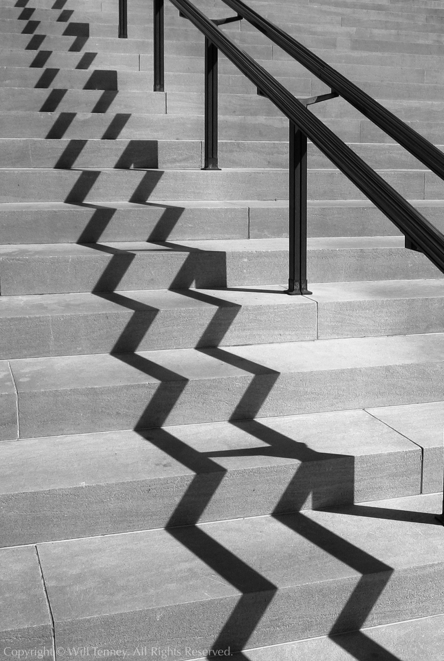 Famous Straight Line Artists : Stair shadow photograph by will tenney